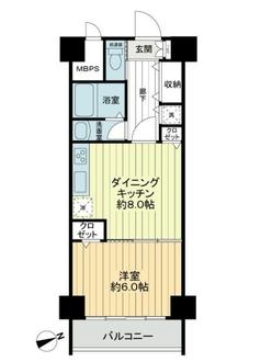マンション中野坂上の間取図