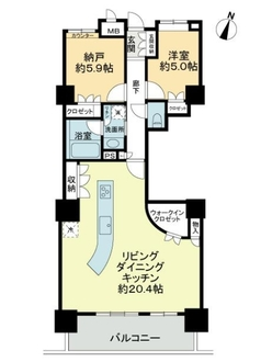 アーバンビュー渚ガーデン・タワーヴィレッジ二番館の間取図
