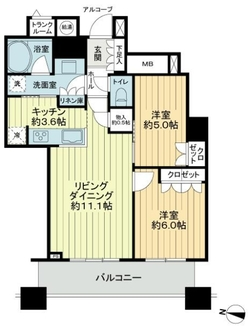 CHIBA CENTRAL TOWERの間取図
