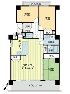 ライオンズマンション八事石坂B棟の間取図
