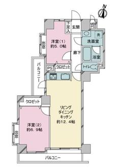 ライオンズマンション小石川第五の間取図