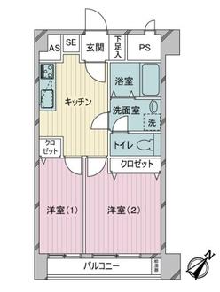 マンション第三松戸の間取図