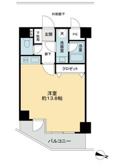コスモ横浜大通公園の間取図