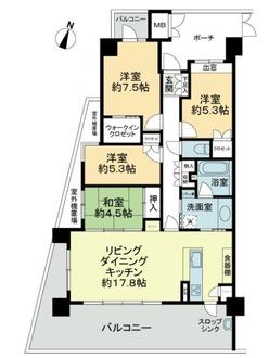 アーバンビュー渚ガーデン・タワーヴィレッジ8番館の間取図