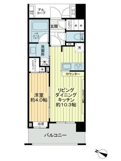 グローベル ザ・オペラ 横浜ウエストの間取図