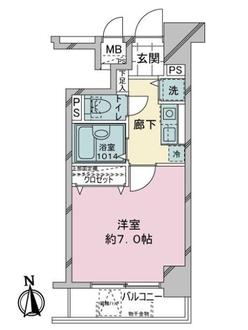 ドルチェ銀座東・壱番館の間取図