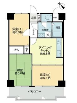 ライオンズマンション神戸西橘通の間取図