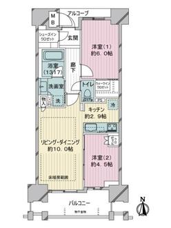 ジオ練馬桜台の間取図