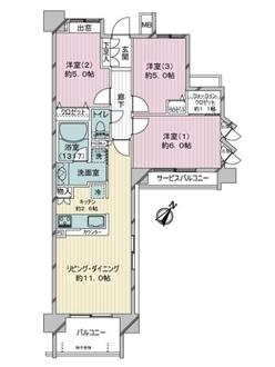 クレストフォルム横浜平沼の間取図