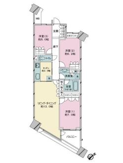 グリーンプリズムタワーの間取図