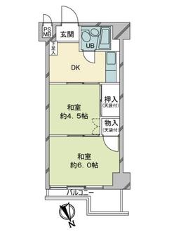 日本橋ニューシティダイヤモンドパレスB号館の間取図