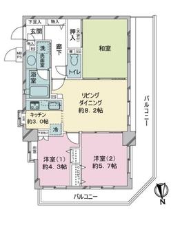 ライオンズマンション葛飾渋江公園の間取図