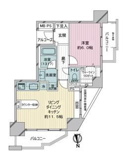 ライオンズグローベル蒲田センターフォートの間取図