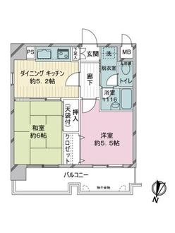 ライオンズマンション博多駅南第3の間取図