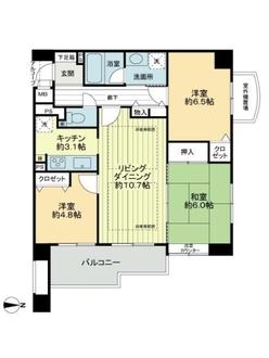 ダイアパレス松室の間取図