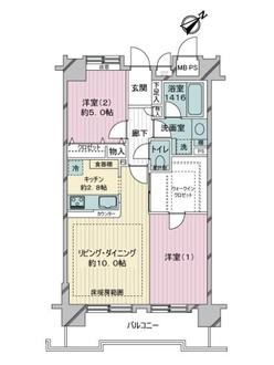 ライオンズマンション渋谷シティの間取図
