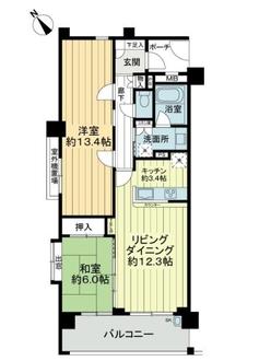 日神パレステージ東武練馬台東館の間取図