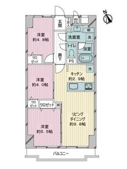 飯田橋第2パークファミリアの間取図