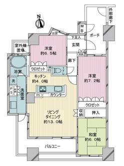 サーパス一宮駅前の間取図