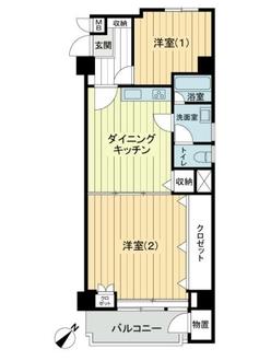 ウィスタリアマンション板橋志村の間取図