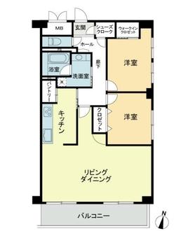 ライオンズマンション八事ガーデン弐番館の間取図