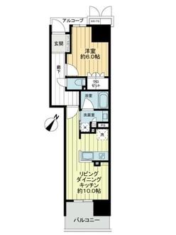 ワコーレ神戸三宮トラッドタワーの間取図