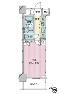 パレステ-ジ曳舟2の間取図