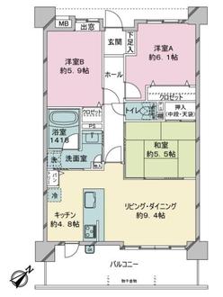 アンピール南福岡駅の間取図