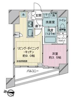 シティインデックス千代田岩本町の間取図