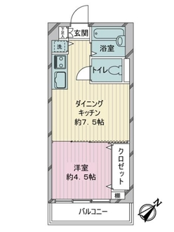月島福寿マンションの間取図