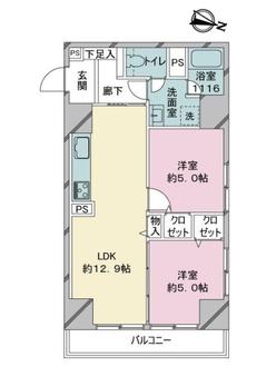 赤坂エクセルの間取図