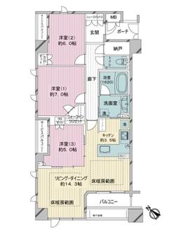ヴィークコート神戸山本通の間取図
