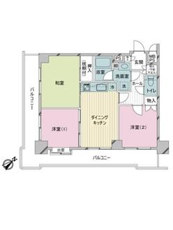 ライオンズマンション鶴見中央の間取図