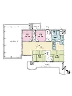 JGMヴェルデ新室見の間取図