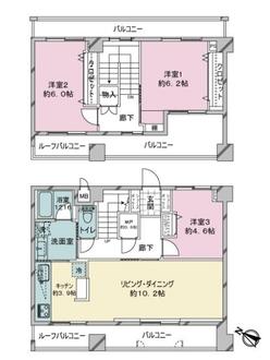 ライオンズマンション舞鶴第2の間取図