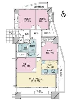 サーパス加納上本町の間取図