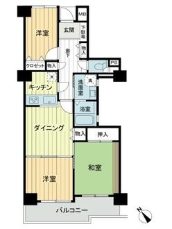 グリーンキャピタル竹ノ塚第三の間取図