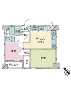 ライオンズマンション蒲田の間取図
