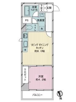 藤和新宿御苑コープの間取図