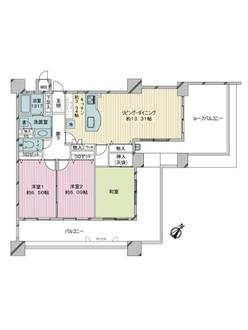 クレアールガーデンズ室見の間取図