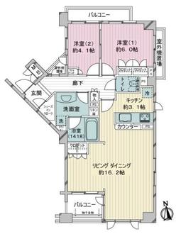 サンウッド新宿戸山フラッツの間取図