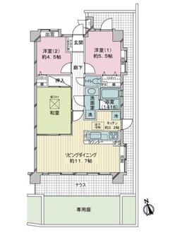 ライオンズマンション武蔵小金井中町の間取図