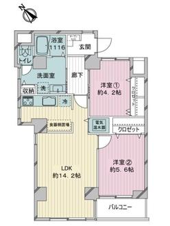 ライオンズマンション小石川台の間取図