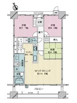 サーパス諏訪町の間取図