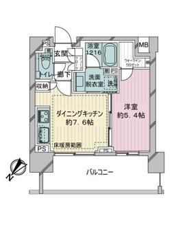 アデニウム東神田の間取図