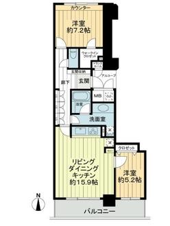 ライオンズマンション大阪スカイタワーの間取図