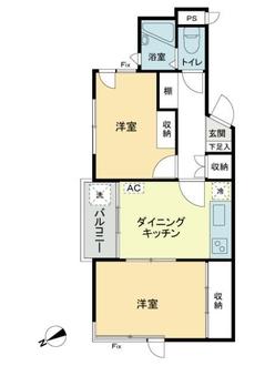 西原GSマンションの間取図