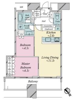 スカイズ タワー&ガーデンの間取図