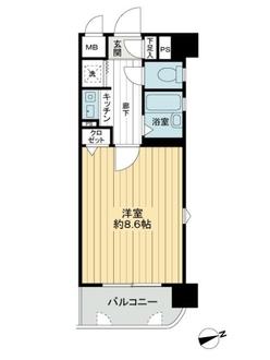 ライオンズステーションプラザ箱崎の間取図