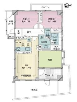 ライオンズマンション中野哲学堂公園の間取図